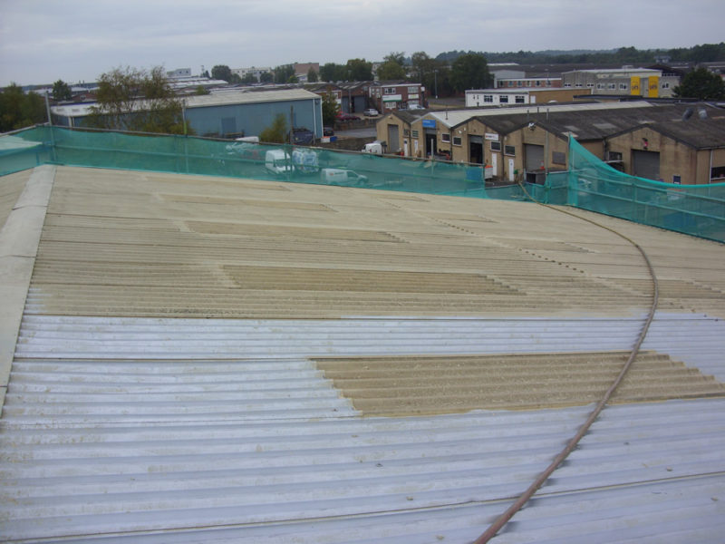 Industrial Roof View - Ultra High-Pressure Water Blasting (UHP)