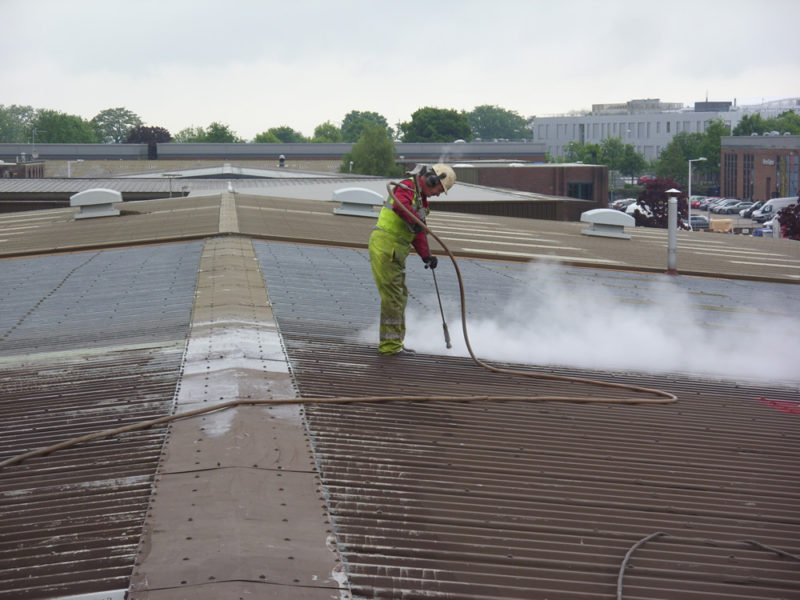 UHP Blasting Roof